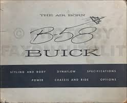 1958 buick repair shop manual original all models