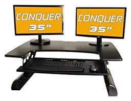 amazon com desktop tabletop standing desk adjustable height sit