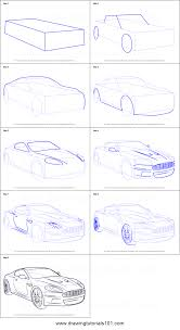 how to draw aston martin db9 printable step by step drawing sheet