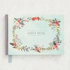 wedding guest book floral guest book paper source