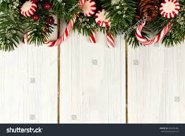 christmas top border branches candy canes stock photo 334555466