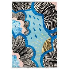 doftranka rug low pile blue 133x195 cm ikea