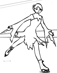 ice skating coloring page for kids ice skating coloring pages ice