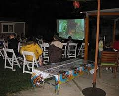 Backyard Movie Night Rental Outdoor Movie Rental Packages Avista Rentals