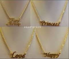 Gold Name Plated Necklace Gold 18