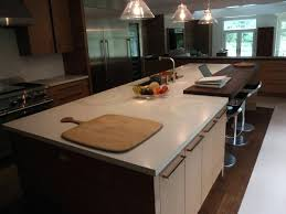kitchen island countertop overhang kitchen island countertop ideas home improvement butcher block