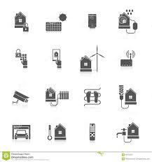smart home icon set stock vector image 48753207