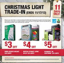 home depot christmas lights coupon home depot running 2013 eco options christmas light trade in event