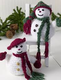 free crochet patterns for home decor mr and mrs snowman snowman free crochet and free pattern