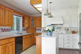 how to modernize honey oak cabinets 13 ways to makeover dated kitchen cabinets without replacing
