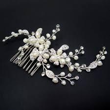 pearl hair comb bridal hair comb bridal hair vine wedding headpiece freshwater