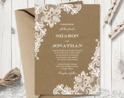 kraft paper wedding invitations kraft paper invite etsy