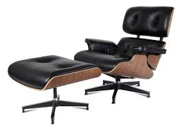 Leather Lounge Chair Aniline Leather Lounge Chair And Ottoman 2 Set Midcentury