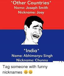 Joseph Smith Meme - other countries name joseph smith nickname joey india name