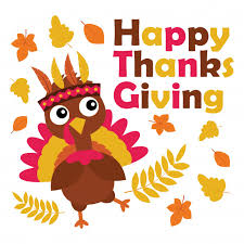 vector illustration with turkey is happy on