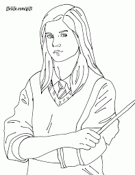 harry potter coloring pages ginny coloring