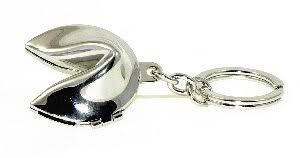 fortune cookie keychain silver plated fortune cookie sentimental gift treasured gift