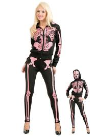 skeleton costume womens women s pink skeleton hooded sweatshirt
