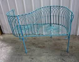 Iron Wrought Patio Furniture by Wrought Iron French Courting Chair