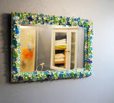 DIY Flat Glass Stones Decorated Mirror BexBernard