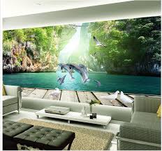 3d wallpaper for room home decoration dolphin guilin landscape 3d
