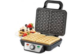 Andrew James Double Belgian Waffle Maker with Adjustable Temperature