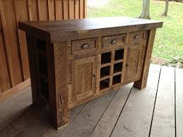 oak wine rack kitchen island ready to ship
