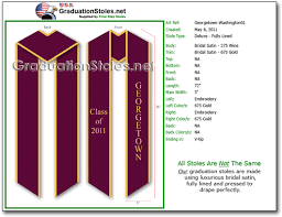 personalized graduation stoles our exles of stoles for graduation graduationstoles net