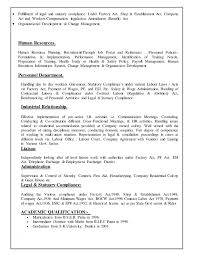Resume For Factory Job by Resume For Hr Profile