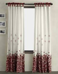 Curtains Drapes Home Decoration Drapes For Living With Colorful White And Red