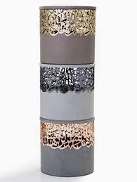 iyad naja forms metal and concrete calligraphy stools for dubai