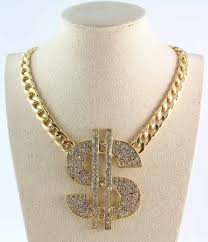 big gold fashion necklace images Free shipping 2014 new design gold tone full rhinestone big dollar jpg