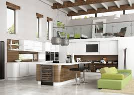 open kitchen design with modern touch for futuristic home interior
