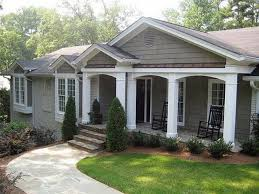 Front Porches On Colonial Homes by Low Pitch Roof Front Remodel U2026 Pinteres U2026