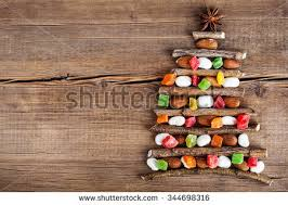 card decorations on wooden stock photo 344698316