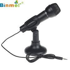 montage pc bureau binmer pour pc de bureau 3 5mm ktv discours microphone pied