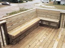 wrap around deck plans deck bench but wrap around 3 sides and put a table in the