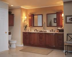 Traditional Bathroom Decorating Ideas Furniture Cool Traditional Brown Cabinet Wooden Frame Mirror