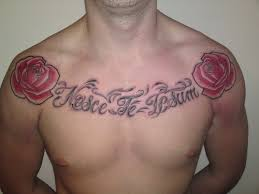 roses and words chest tattooshunt com