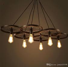 wrought iron ceiling lights diy ceiling lighting new diy loft retro iron bicycle wheels pendant