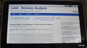 Resume Now Reviews Olivepad Vt 1000 U2013 7 Inch Android 2 2 Tablet Hands On Review