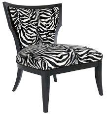 Animal Print Accent Chair Animal Print Slipper Chair Zebra Print Accent Chair Zebra Print