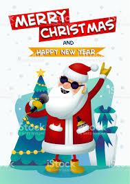 imagenes de santa claus feliz navidad estrella de rock fresco santa cantando santa claus feliz navidad y