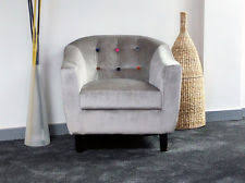 fabric armchairs ebay