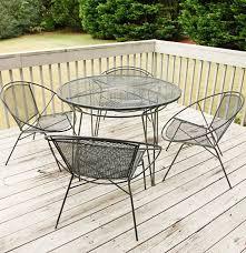 vintage mid century modern salterini style metal patio dining set