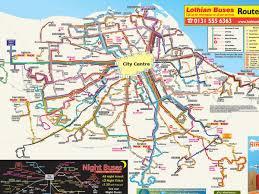 Bus Map Bus Map Edinburgh Edinburgh Bus Route Map Scotland Uk