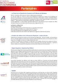 chambre de commerce bordeaux recrutement dossier de presse salon recrutement alternance bordeaux 2015