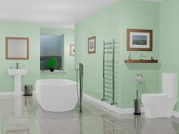 Decorating A Small Bathroom Green Green Wall Color With White Toilet Also Some Medium Size Mural And