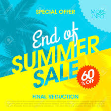 summer sale end of summer sale banner design template royalty free cliparts
