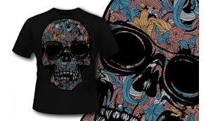 t shirt design 328 colorful skull designious